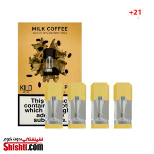KILO 1K PODS MILK COFFEE 20MG 1.5ML (PACK OF 4PC)