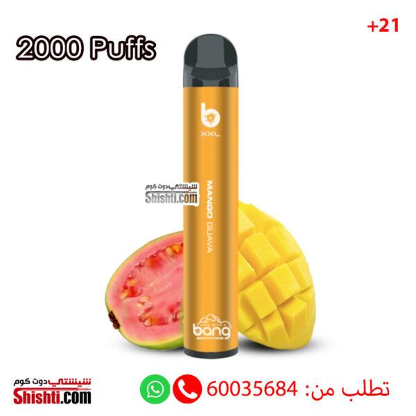 bang xxtra 2000 puffs mango ice