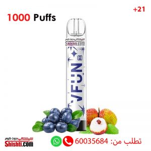 vfun blueberry lychee disposable 1000 puffs