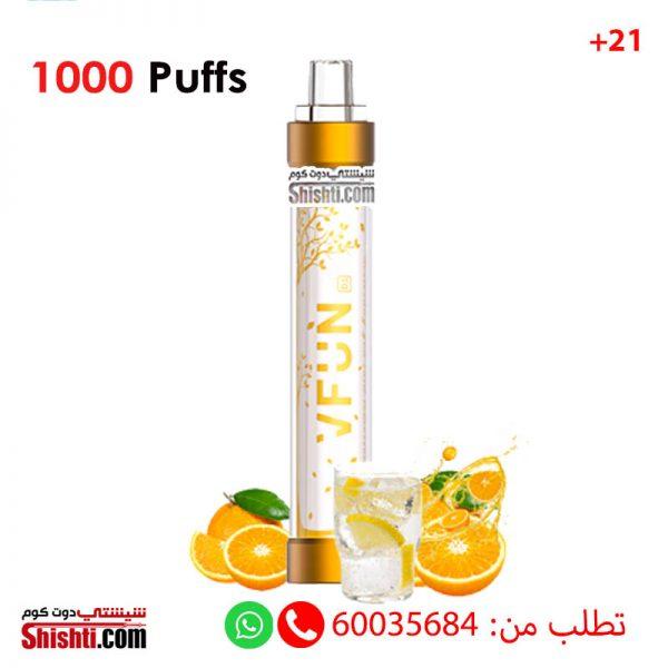 vfun orange soda disposable 1000 puffs