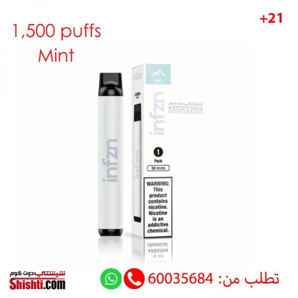 inzn mint disposable pods 1500 puffs