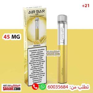 air bar lux mango 45mg